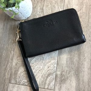 Coach double pocket wallet wristlet